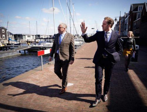 Minister De Jonge op bezoek in Spakenburg